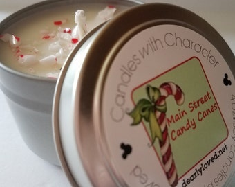 M.S. CANDY CANES - Disney Scented   Candles with Character - 4 oz. (Seasonal)   Soy Wax   Hand Poured   Holiday   Gifts   Christmas