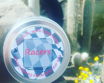 RACERS - Disney Scented   Candles with Character - 4 oz.   Cars   Radiator Springs   Soy Wax Candle   Hand Poured   Wedding Favors   Gift