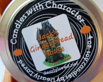 JACK'S GINGERBREAD HOUSE - Disney Scented   Candles with Character - 4 oz. (Seasonal)   Soy Wax Candle   Hand Poured   Holiday   Gingerbread