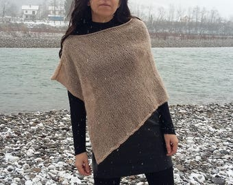 Poncho for women, Dress coverup, Short Boho poncho, Mohair poncho Gift for her gift for wife