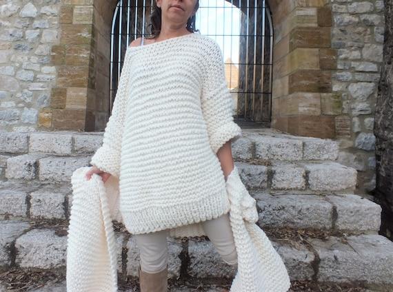 3e8eb5923e Chunky knit sweater Boxy sweater Oversized sweater Comfy