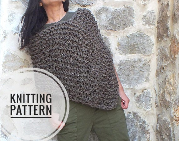 Pattern Poncho Loose Knit Poncho Pattern For Chunky Poncho Easy