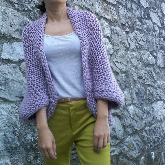 Easy Womens Cocoon Cardigan or oversized Sweater also known Blanket Shrug PDF digital download Crochet Pattern of Cocoon Shrug