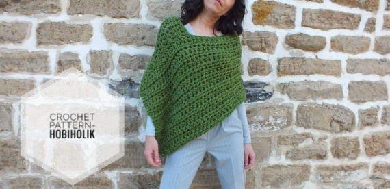 Crochet Pattern Pattern Poncho Easy Crochet Poncho Pattern Etsy