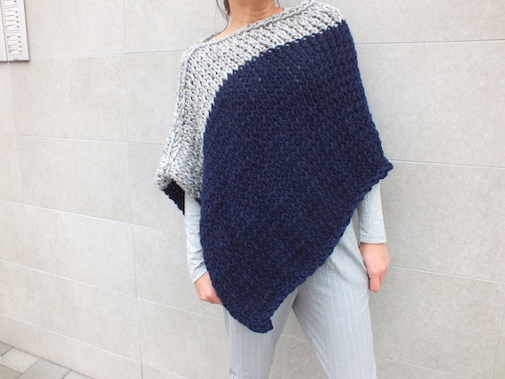 Pattern Poncho Knitting Patterns For Ponchos Easy To Knit Poncho Pattern Beginner Pattern Instant Download