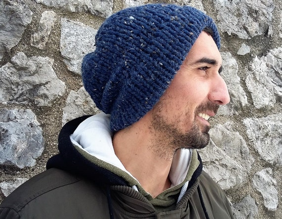 Men Beanie Men s Knitted Hat Mens Slouchy Beanie  88b5339d9070