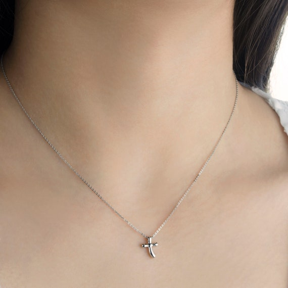 14K White Gold Polished Small Ribbon Bow Pendant Solid Pendants /& Charms Jewelry