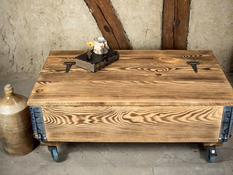 Rustic Coffee Table With Storage Factory Cart Table On Etsy