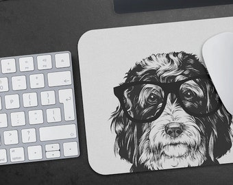 Husky Face Personalised Computer Mouse Mat