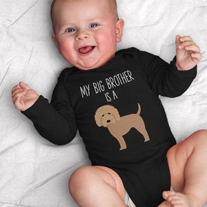 Unisex My Big Brother Is A Bulldog Baby Clothes Bodysuit Romper for Baby Boy or Girl Long or Short Sleeve