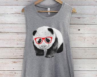 6bc2030f961ae8 Hipster Panda Muscle Tank Top