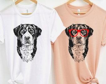 Swissy Shirt, Nerdy Glasses Greater Swiss Mountain Dog Tee Tshirt, Hipster Dog Muscle Tank Top, Dog Mom Dad Mama Gift, Boy Girl Youth Shirt
