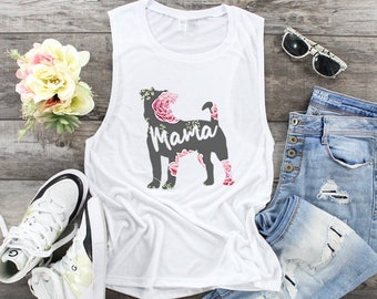 ea686d15ded002 Jack Russell Terrier Mama Muscle Tank Top