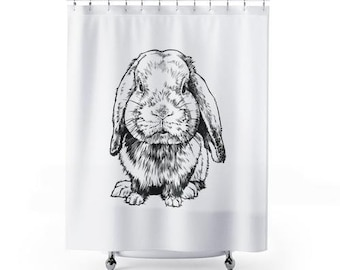 Rabbit and easter eggs Shower Curtain Bathroom Decor Fabric /& 12hooks 71X71IN