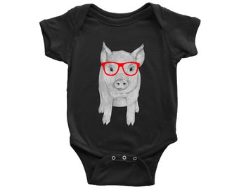 Baby Boy Girl Long Sleeve Jumpsuit My Spirit Animal is Bacon Baby Clothes