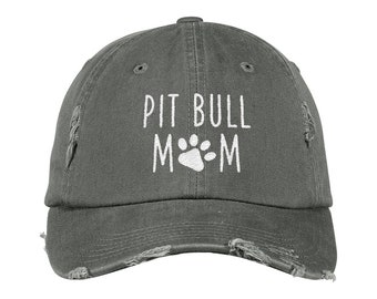 a94250e74ef Pit bull Mom Distressed Hat