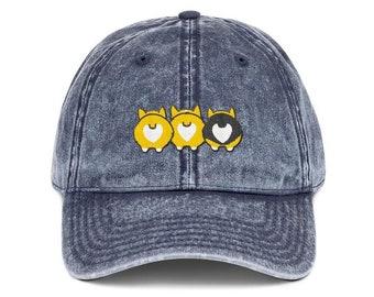 7b5389bfda7b1 Corgi Butt Embroidered Baseball Hat