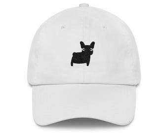 5c8c666d62e More colours. Black French Bulldog Frenchie Embroidered Baseball Hat