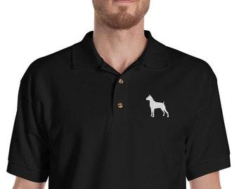 141c07999 Boxer Polo Shirt, Dog Embroidered Men's Polo Shirts, Boxer Dog Dad Shirt, Dog  Dad Gifts, Gift for Dad