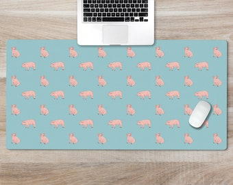 Cute Pig with Bandana Personalized with your Name J-WEL001 Custom Mousepad