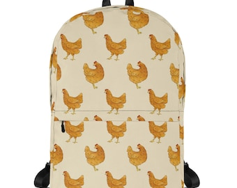 Small personalized backpack Chickens