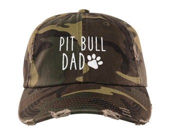 7127eb3faac Pit Bull Dad Distressed Hat