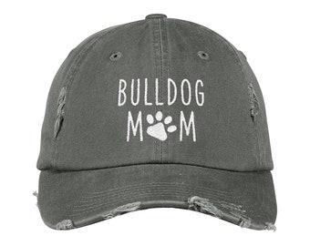 3a693ca8cdb Bulldog Mom Distressed Hat