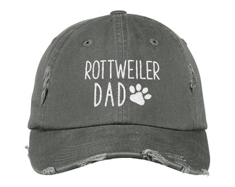 bc549d9f1670e Rottweiler Dad Distressed Hat