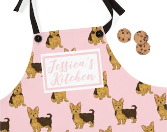Yorkshire Terrier Dog Lover Gift BBQ Cooking Funny Novelty Apron