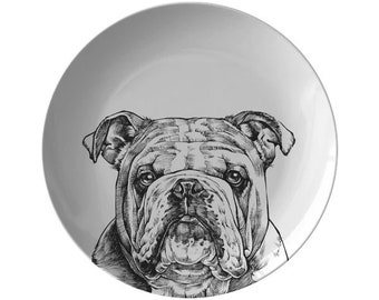 Bulldog Novelty Vanity Metal License Plate