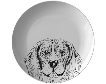 Irish Setter Dog I paw Chrome Metal License Plate Frame Tag Border