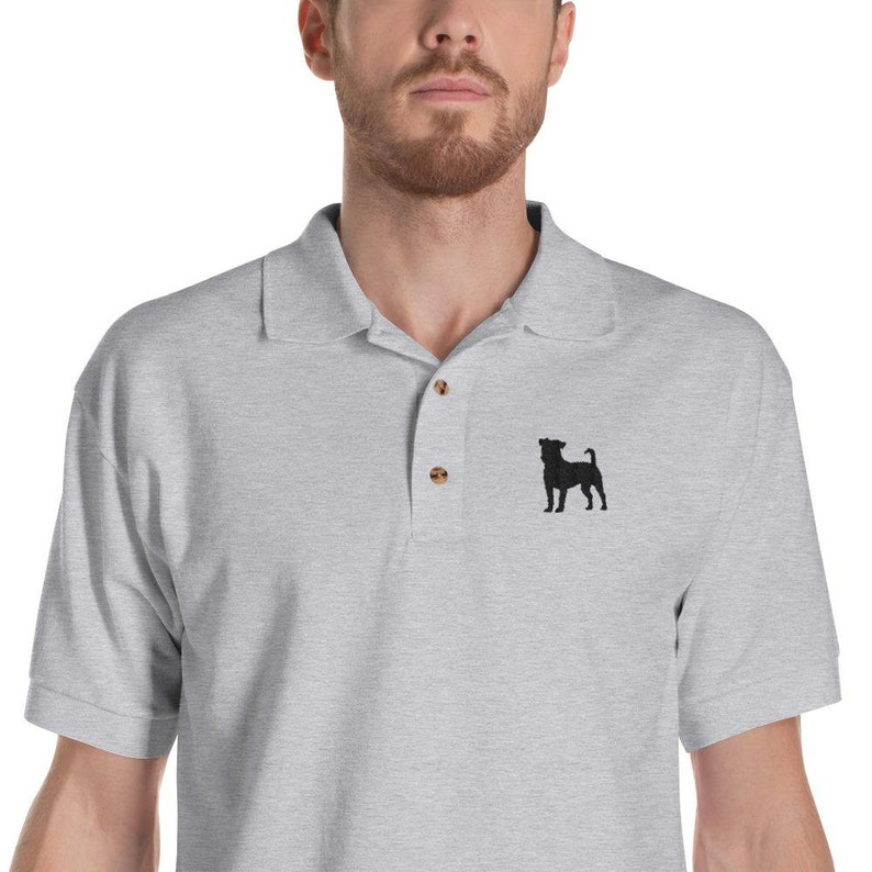 cce8368c Jack russell terrier Polo Shirt Dog Embroidered Men's | Etsy