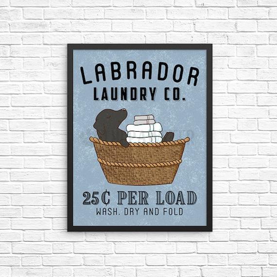 Labrador Retriever Laundry Wall Decor Black Lab Laundry Art Etsy