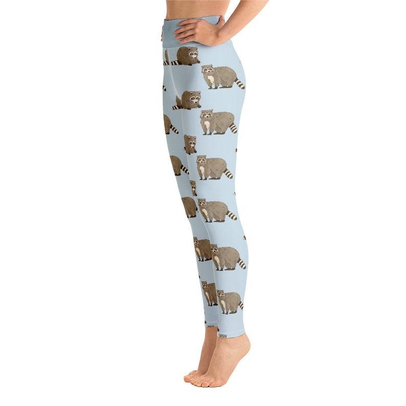 Animal Pattern Women Leggings for Gym Yoga Leggings Racoon Gifts Raccoon Leggings Yoga Pants Kids Tights Youth Leggings