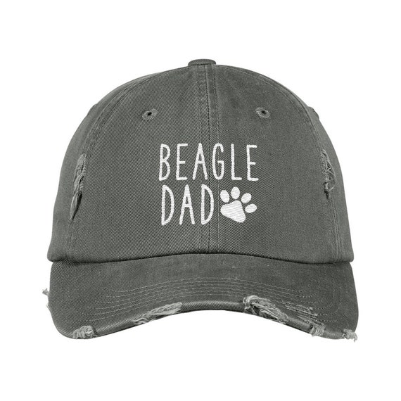 595e79ab860 Beagle Dad Distressed Hat Dog Dad Embroidered Baseball Hats