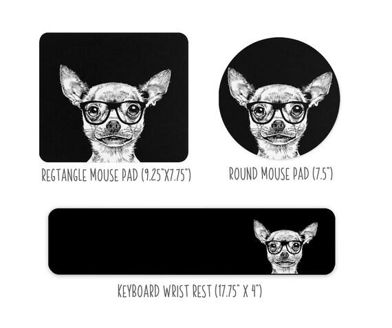 Poodle Large Desk Mat Mouse Pad or Keyboard Wrist Rest Black Desk Pad Poodle Dog Dad Office Desk Decor Gift Dog Mom Mousepad