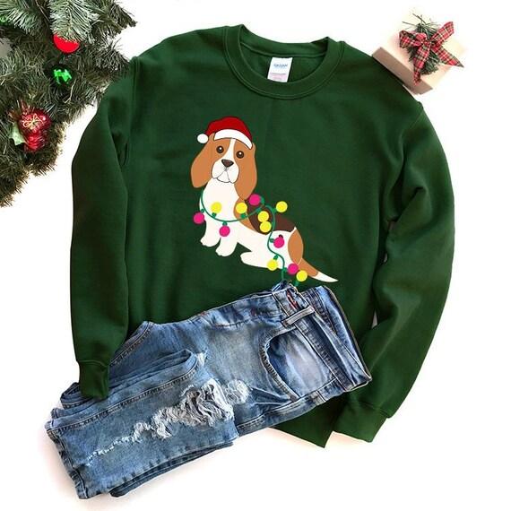 Basset Hound Christmas Sweater Dog Ugly Christmas Sweatshirt Etsy