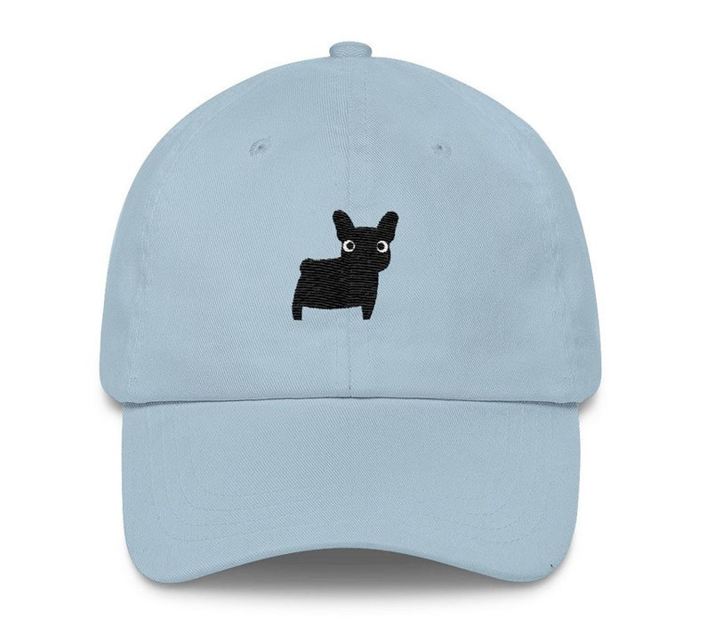 077fe7daa77 Black French Bulldog Frenchie Embroidered Baseball Hat Dog