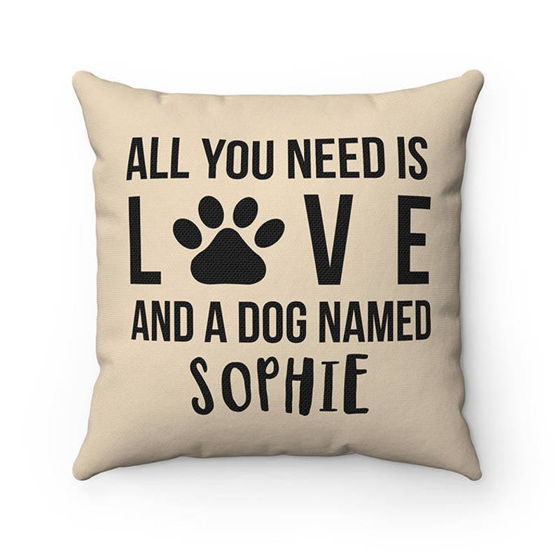 Personalized All you need is love and a dog named Dog Throw image 0