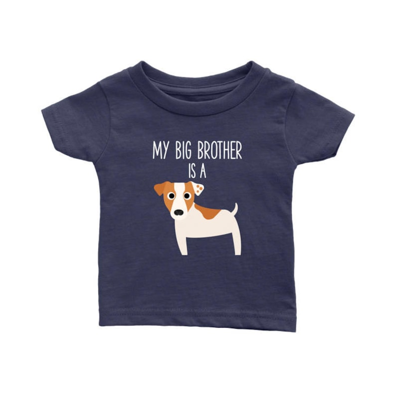51474b5d0a6a67 My Big Brother   Sister is a Jack Russell Terrier Baby Shirt