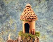 Tiny Fir Cone House for Wee Faerie Folk