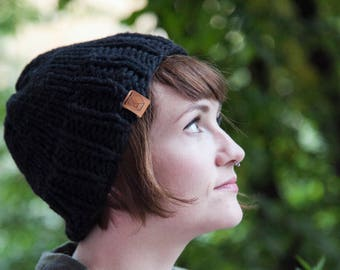 Chunky Knitted Hat - 100% Virgin Wool - Organic Yarn