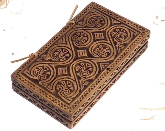 Wax tablet, Viking pattern, hand carved, medieval theme, perfect gift for him and for her, Larp and SCA, reenactment, Home decor, Novograd