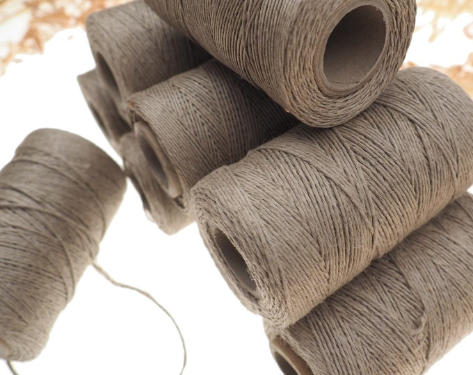 NATURAL linen thread, unwaxed grey Linen String , Warp Thread thickness of 1mm / 3ply 100grams (210 yards ~ 190 metres), linen sewing thread