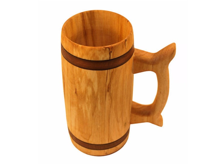 Wooden Beer Mug 0.7 litre ( 23 oz )|beer mug|wooden cup|wooden drinking mug|historical mug||rustic mug|medieval replica|Game of Thrones