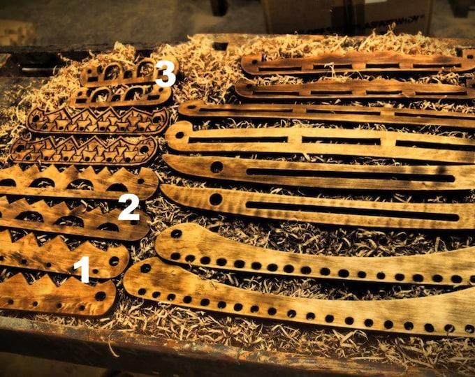 Viking bag handles, wooden, birka and Hedeby- Haithabu orgins. Reenactment.