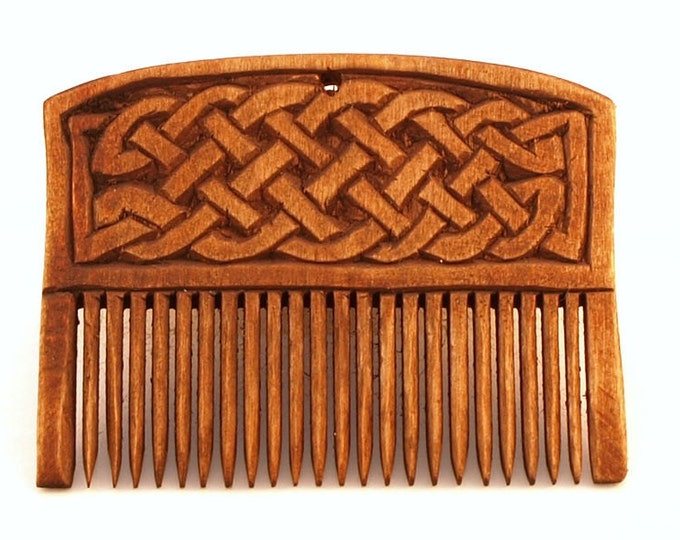 Viking Wooden Comb with Plait