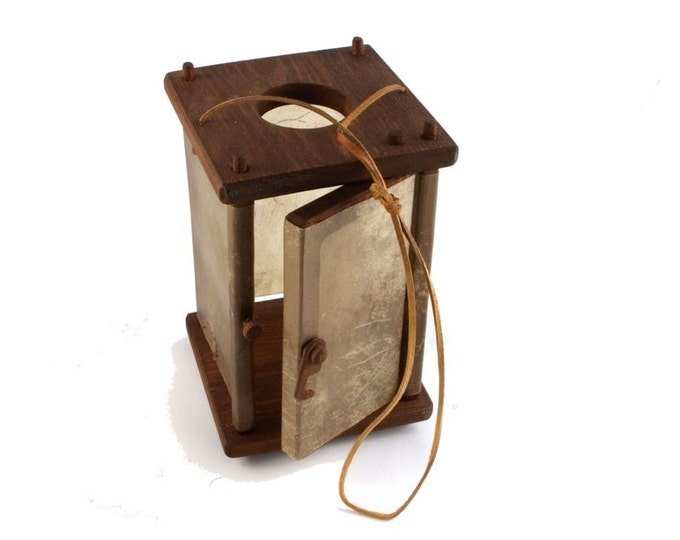 Wooden Medieval Lantern with a door