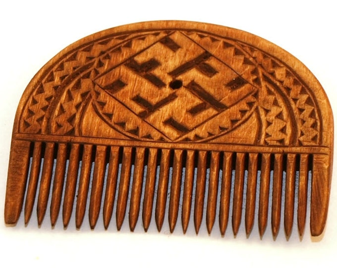 Wooden Comb - Medieval Style Replica - XI century Russia