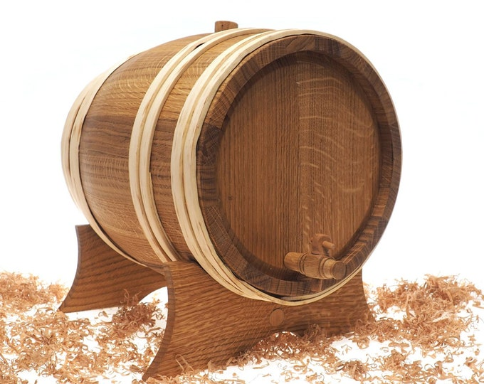 5 Litre Wooden barrel 1 and 1/3 US gallon ,Groomsman gift, wine beer whisky,